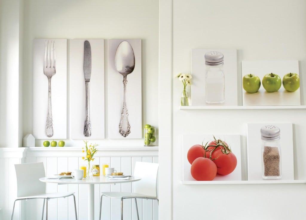 Как декорировать стену на кухне своими руками фото