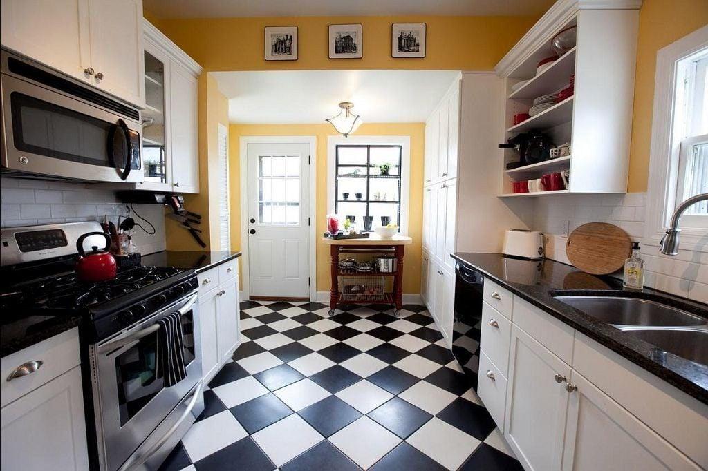 Кафель для кухни остается по-прежнему наиболее популярным материалом