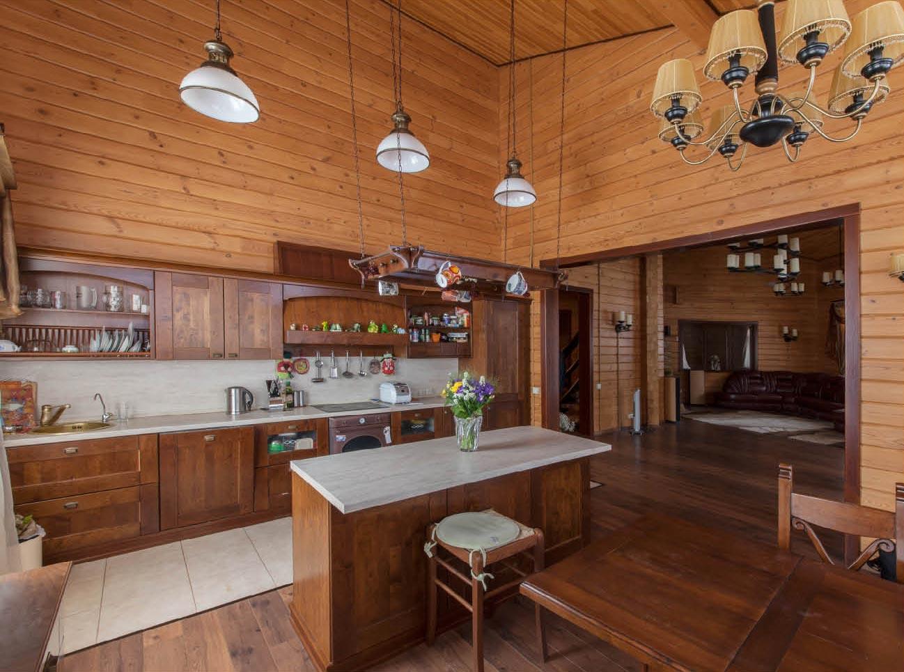 Отделка кухни вагонкой: идеи дизайна