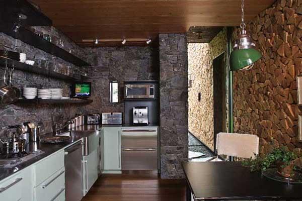 Декоративный камень - это красивый и стильный элемент в оформлении кухни