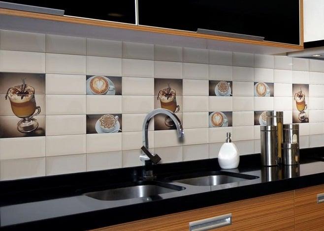 """Декор на плитке сделает рабочую зону """"веселее"""", а интерьер кухни привлекательнее"""
