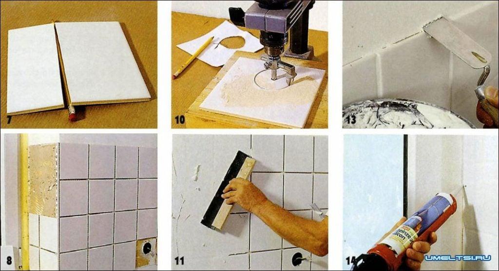 Необходимые инструменты и процесс монтажа кафеля