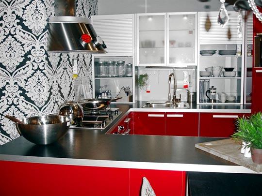 Пример оформления стен на кухне
