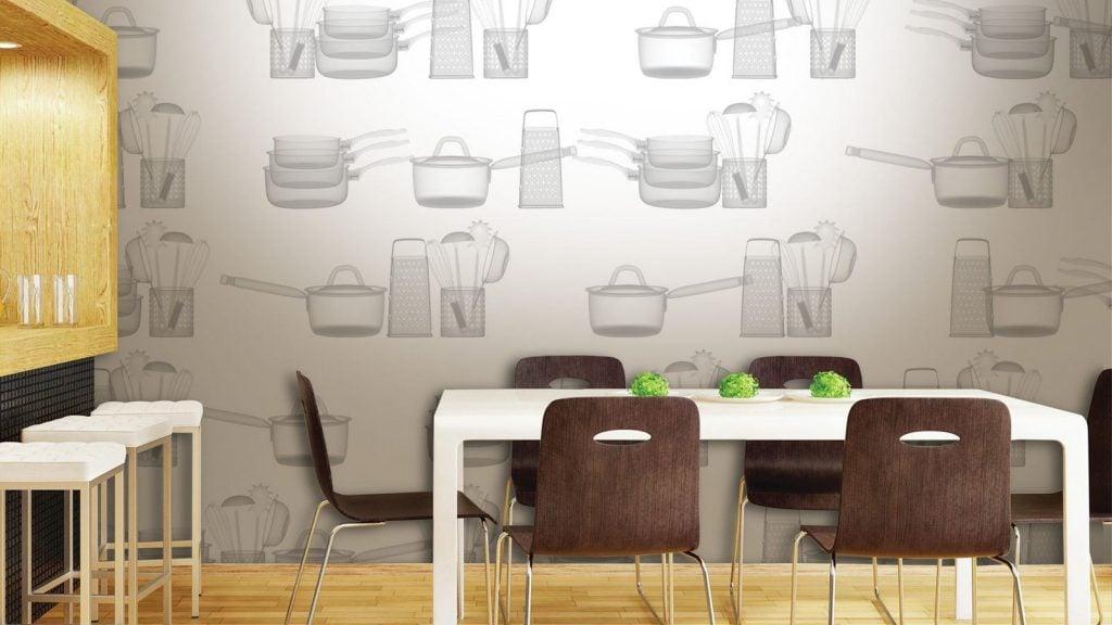 Многообразие рисунков позволит создать интересный и уютный интерьер на кухне