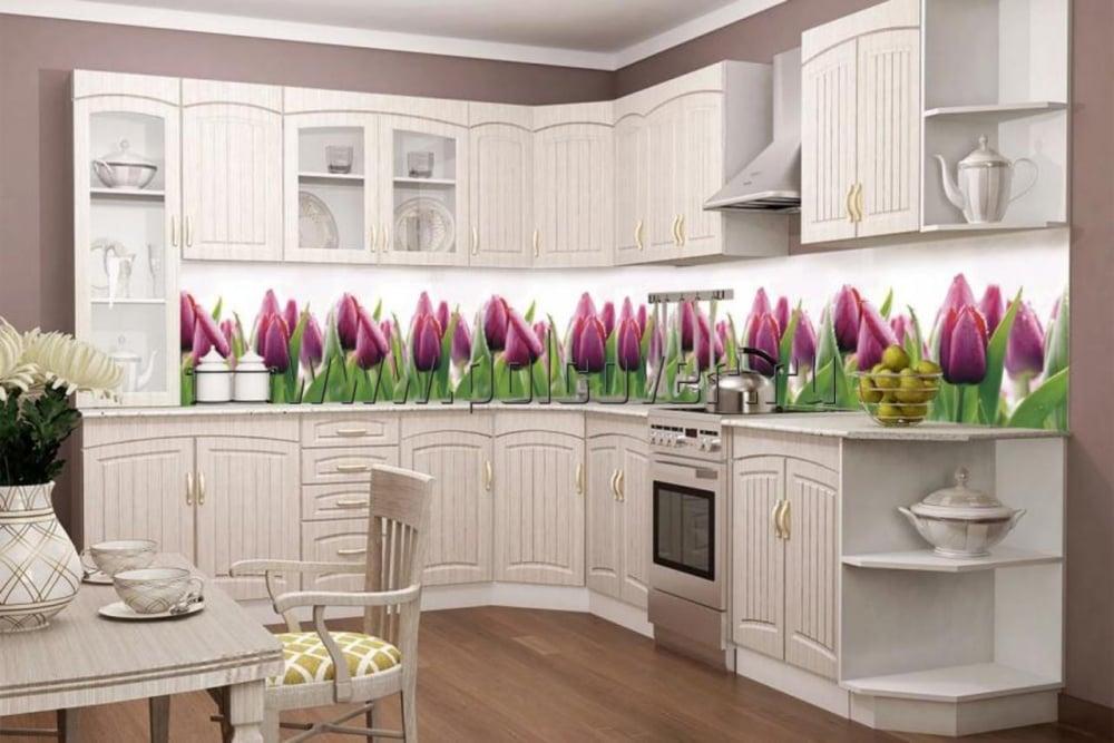 Скинали - закаленное стекло с рисунком, станет украшением на кухне
