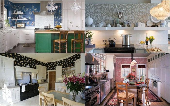 Как подобрать обои для кухни - от критериев выбора до красивых дизайнов