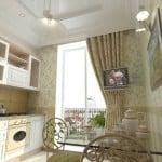 Комбинированные обои для кухни: фото оформления современных интерьеров