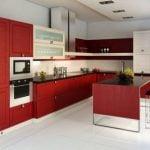 Обои для красной кухни и как подобрать правильные цвета