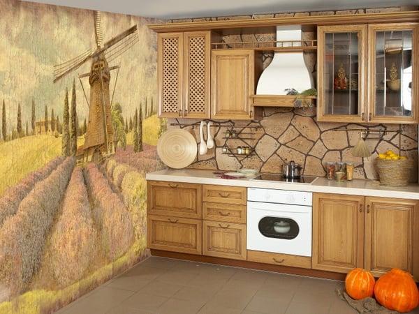 Фотообои в интерьере кухни - это вариант для тех, кто любит креативные решения