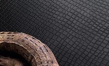 Покрытие под кожу крокодила - довольно смелое и экстравагантное решение