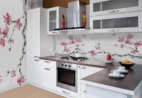 Интересным решением будет оформление кухни в японском стиле