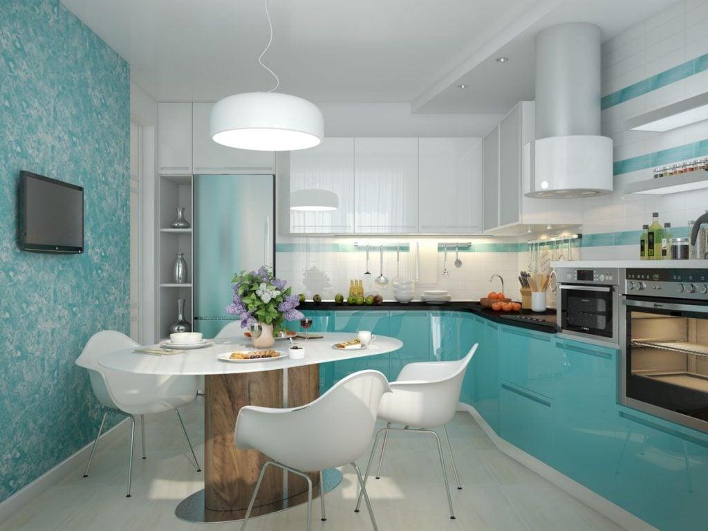 Пример оформления кухни в одной цветовой гамме