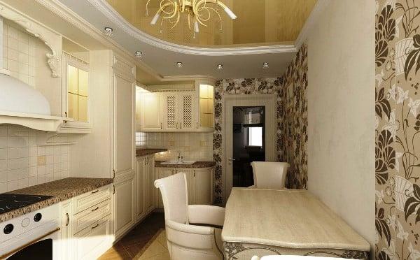 За счет комбинирования обоев светлых тонов можно зрительно увеличить комнату и добавить акцент
