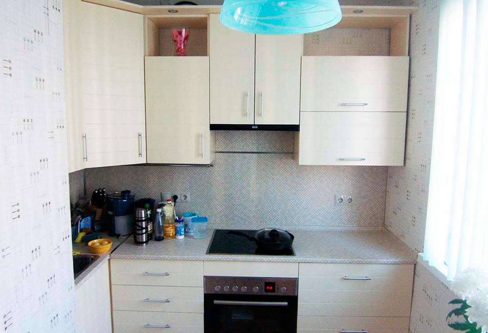 Дизайн маленькой кухни обои фото