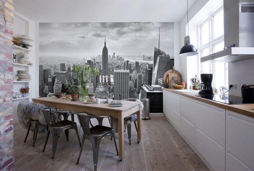 Вариант пейзажа в декоре кухни