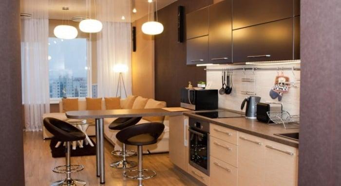 Дизайн кухни 14 кв. м фото