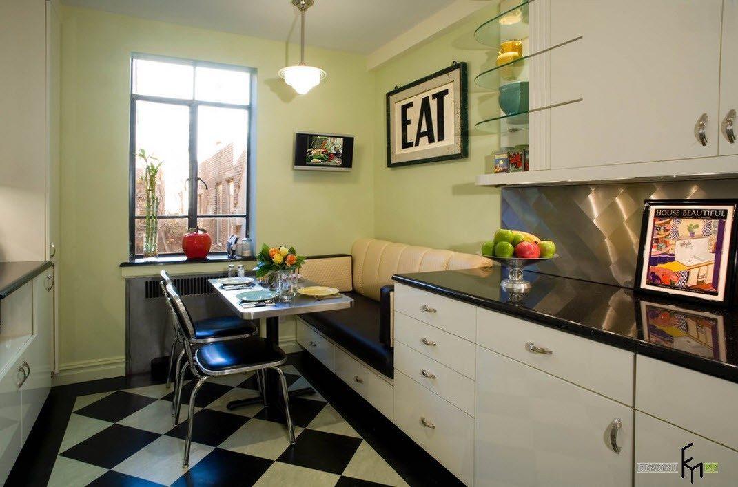 Диван на кухне фото интерьера