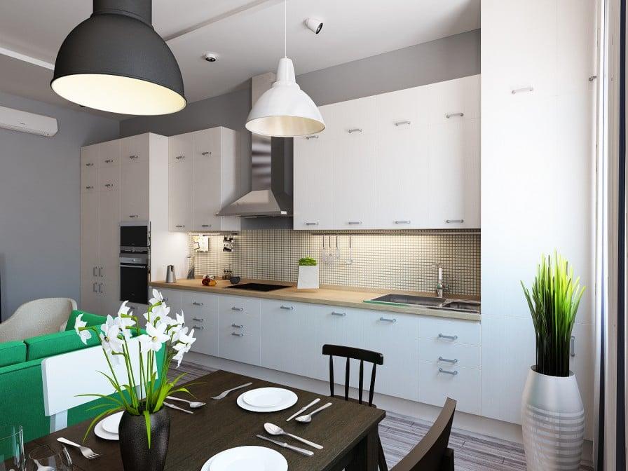 Кухня интерьер дизайн 15 квм
