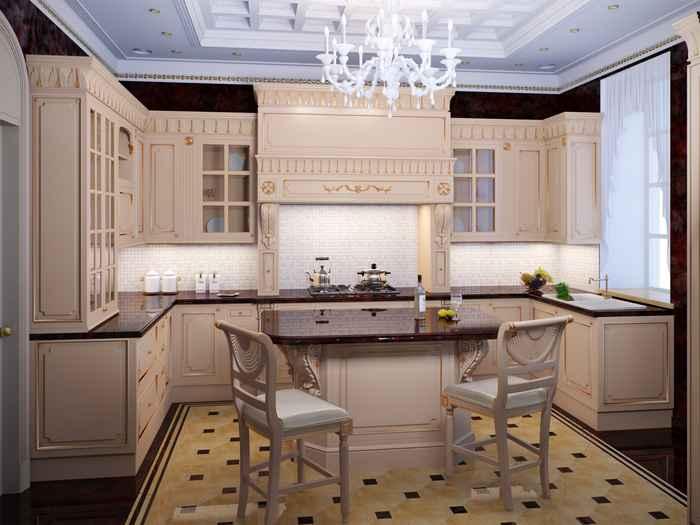 Вариант оформления кухни в классическом стиле