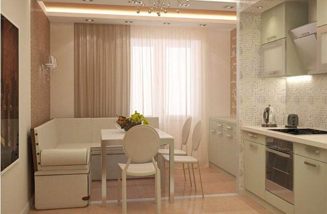 кухня-гостиная 11 кв.м дизайн фото
