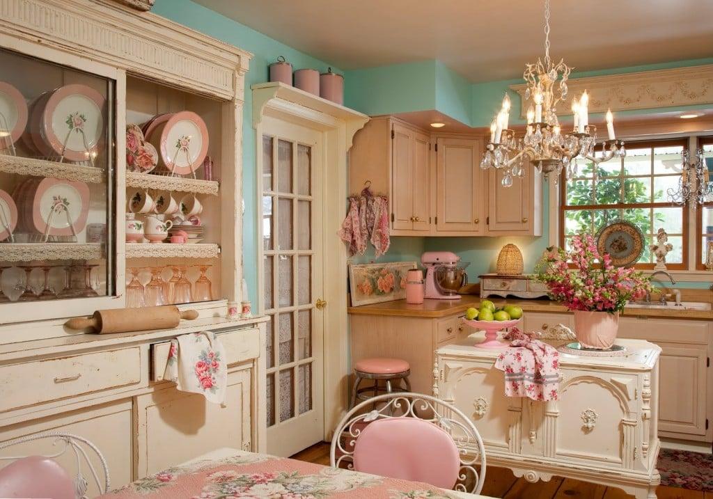 Чем примечателен интерьер кухни в стиле шебби шик