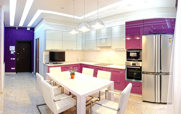 Дизайн кухни 14 метров практически не ограничен в планировочных решениях