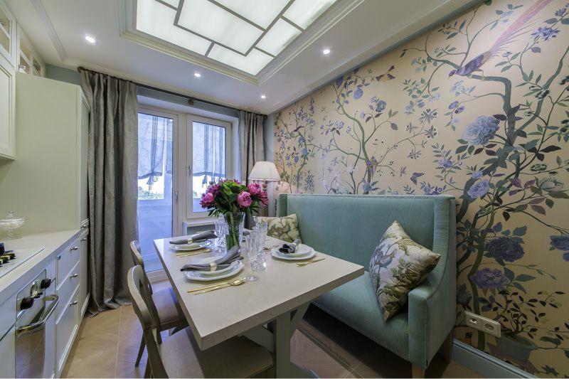 Кухня с диваном дизайн фото 8 кв