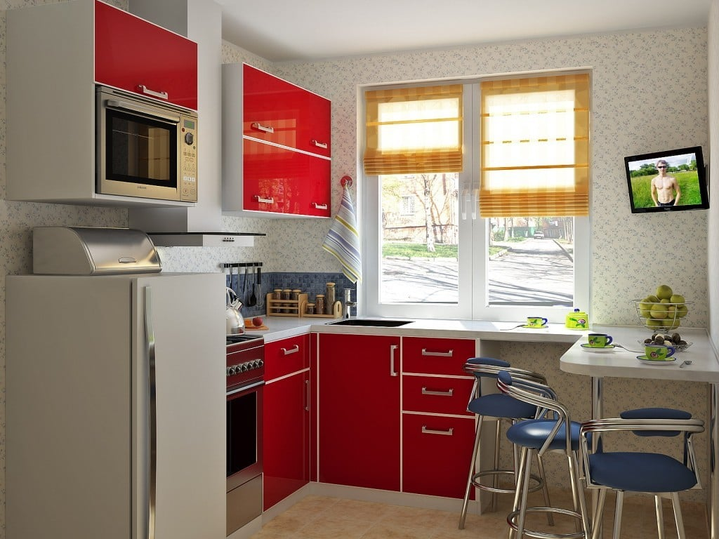 Как организовать интерьер маленькой кухни
