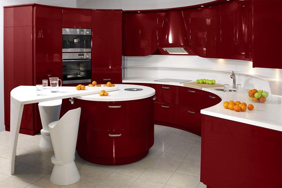 Кухня бордо – это всегда стильно