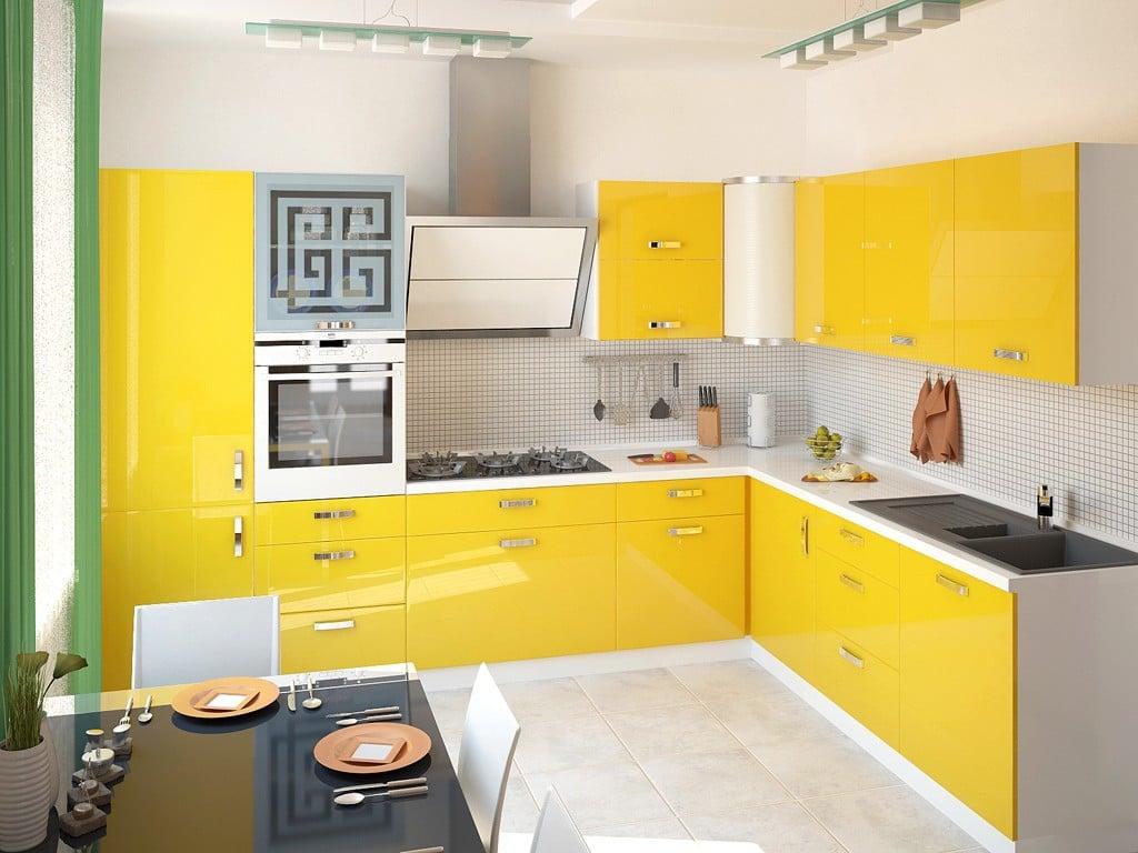 Преимущества желтого цвета в оформлении кухни