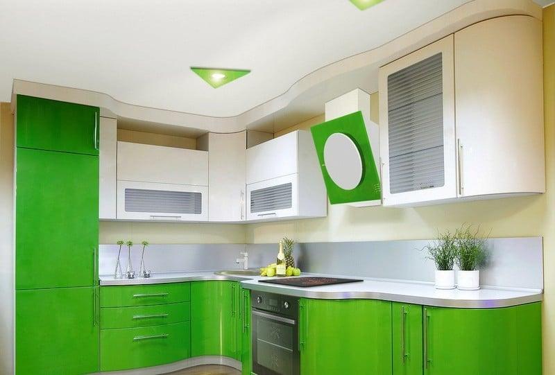При создании кухни бело-зеленого цвета стоит обратить внимание на оттенокмкоторый больше всего подойдет для вашего помещения