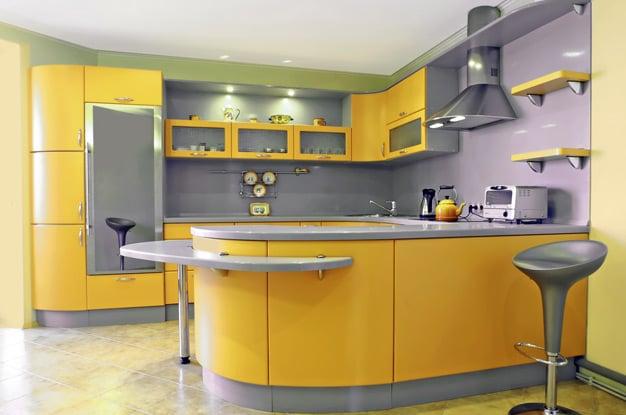 Разнообразные варианты дизайна кухни желтого цвета