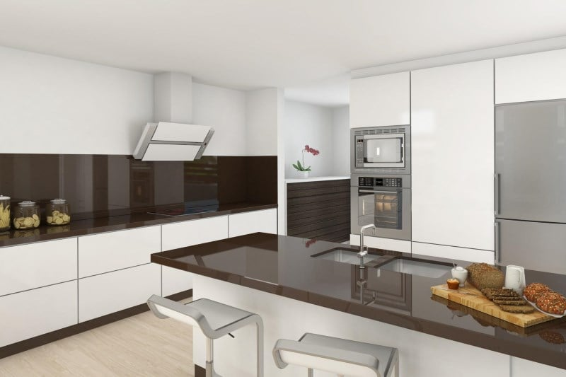 Советы по оформлению бело-коричневой кухни