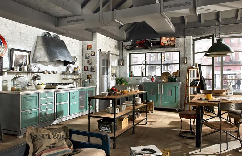 Советы по оформлению кухонь в стиле лофт