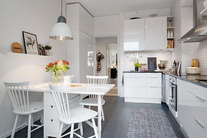Устроить комфортабельный и функциональный дизайн кухни 9 метров можно с помощью правильного зонирования помещения
