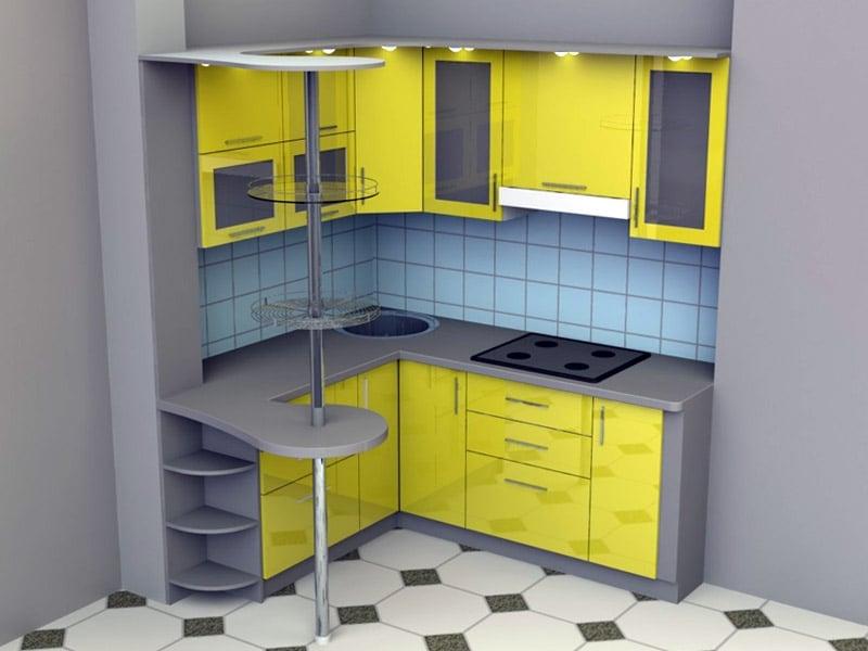 В дизайнерском оформлении кухни можно использовать односторонний тип планировки