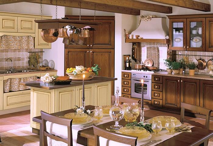 Варианты оформления и отделки кухни в итальянском стиле