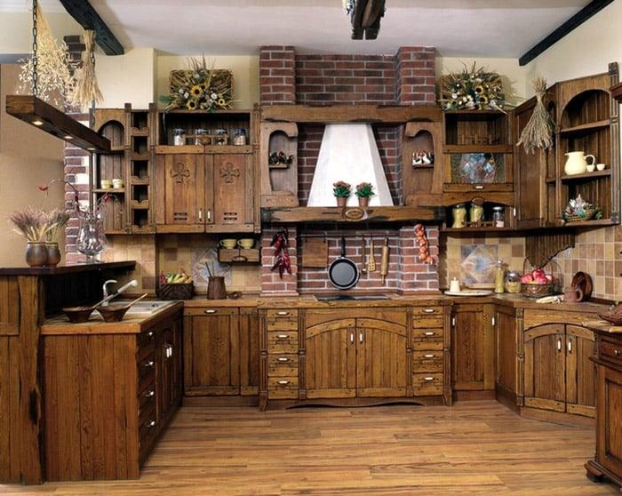 Украсить кухню можно с помощью засушенных экспозиций