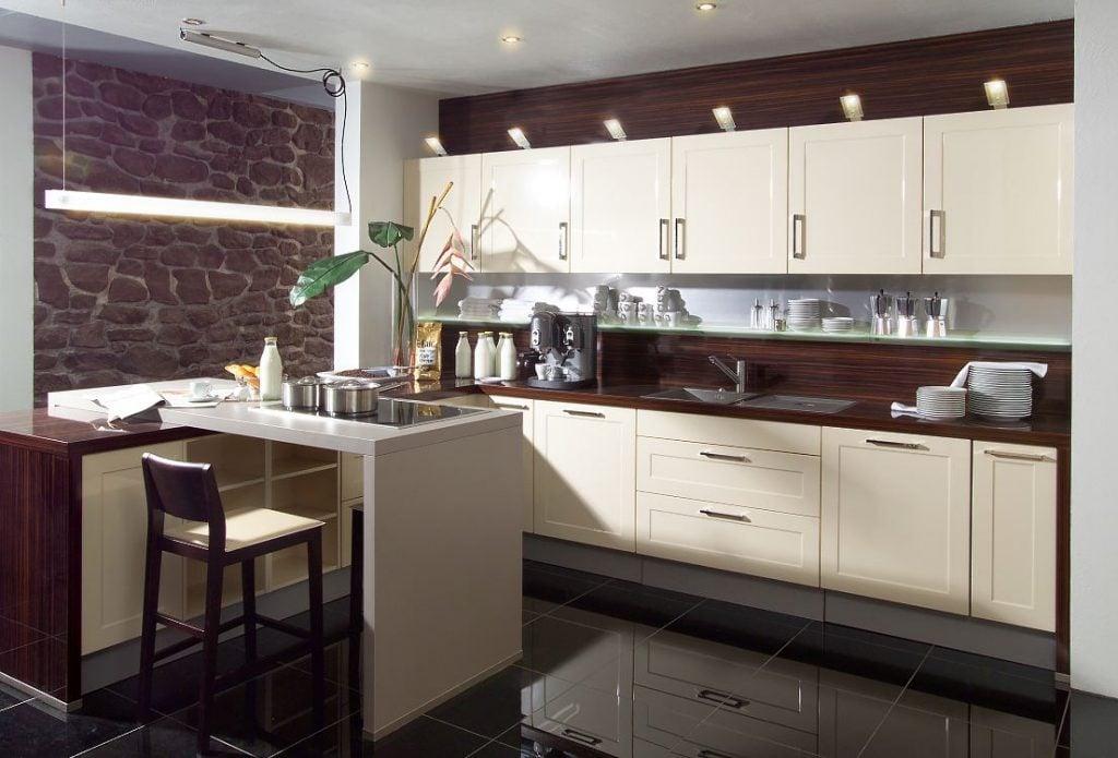 Весьма актуальным будет оформить кухню в стиле модерм