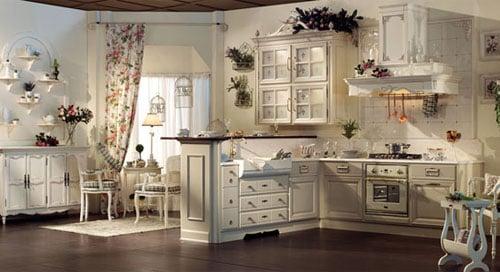 Дизайн кухни в стиле барокко - выбор отделочного материала, мебели и декорирование интерьера