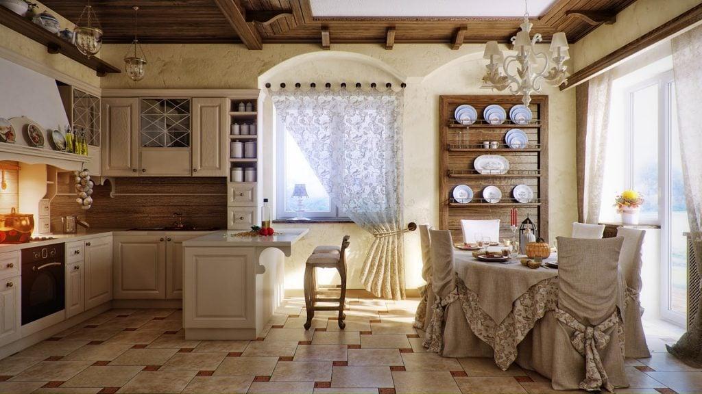 Кухня в стиле прованс прекрасно подойдет для собственного дома