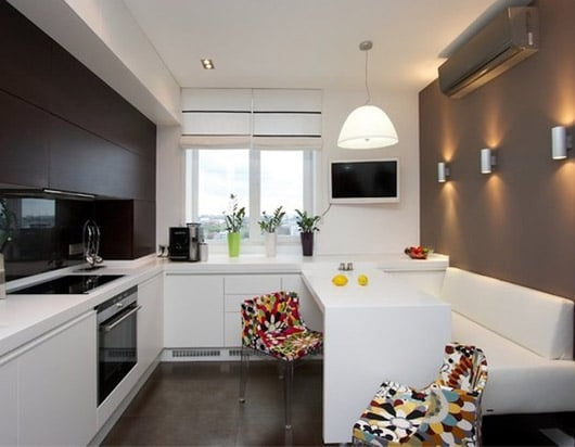 кухня-гостиная дизайн фото 13 кв.м