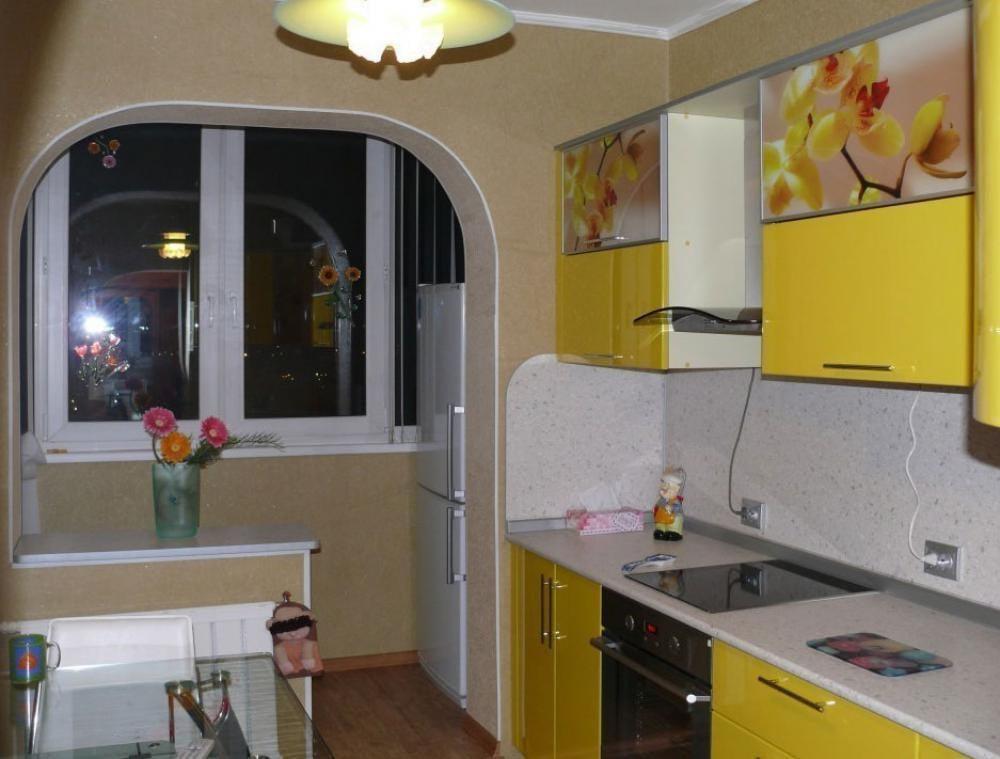 Ремонт кухни совмещенной с балконом дизайн реальные.