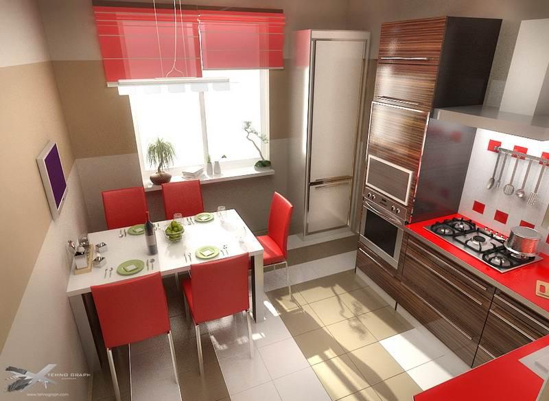 Оформление интерьера кухни, цвета для кухни,... / интерьер /.