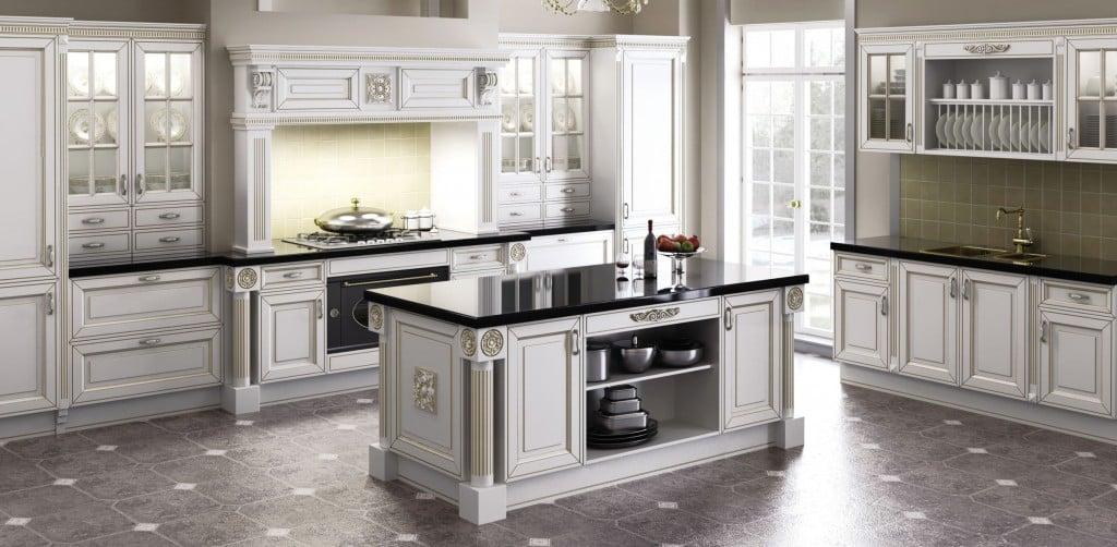 Для создания действительно полноценной классической кухни нужна значительная площадь