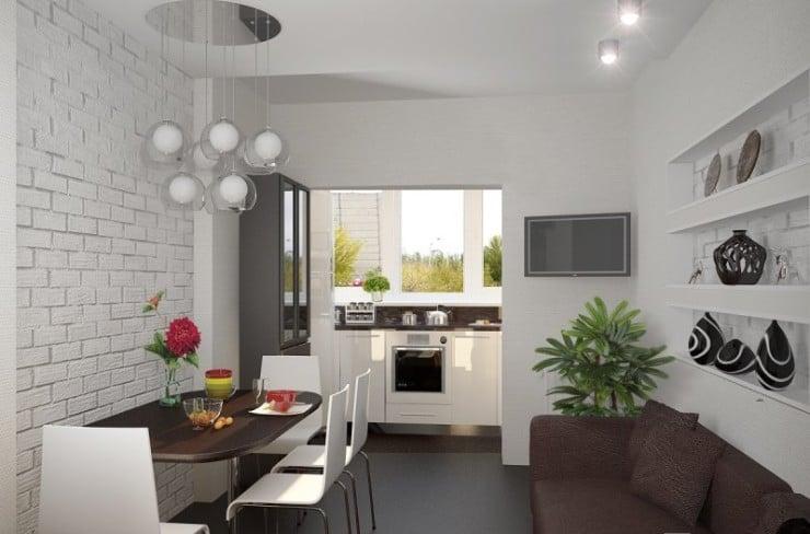 Если возможно увеличение кухни за счет балкона кухня станет красивее и удобнее