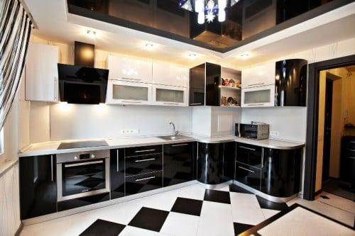 Кухни дизайн с коробом вентиляции