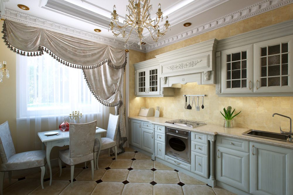 Кухня в стиле современная классика дизайн