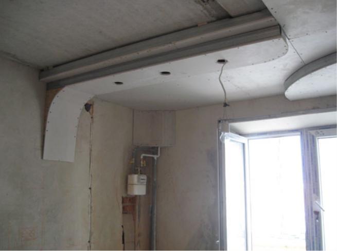 Ремонт своими руками кухни потолков