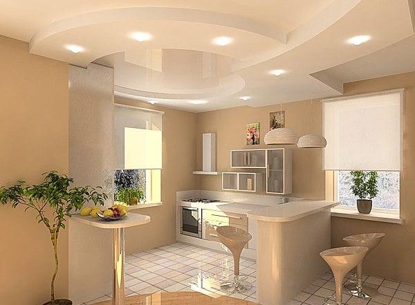 Любой дизайн потолка из гипсокартона обусловлен обязательными техническими требованиями